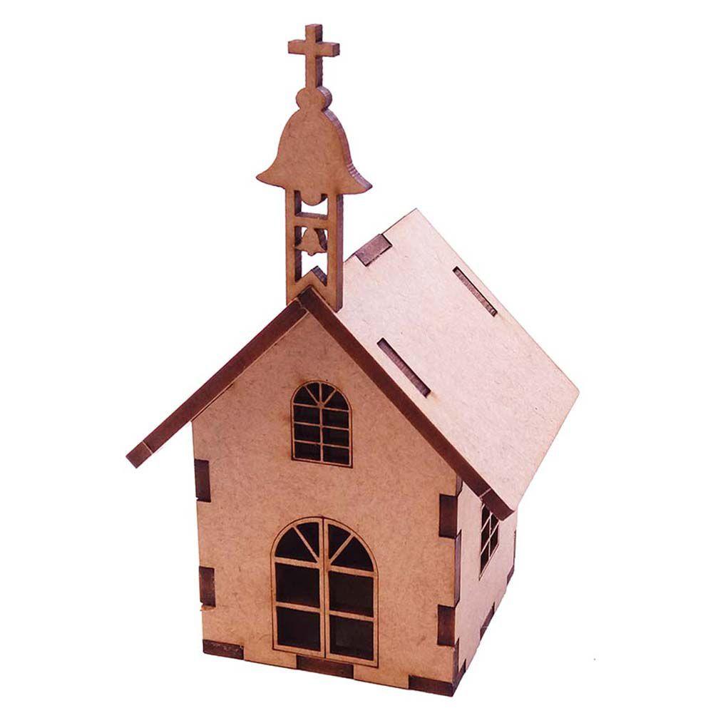 Kit 10  Igreja capelinha miniatura igrejinha mdf arte festa