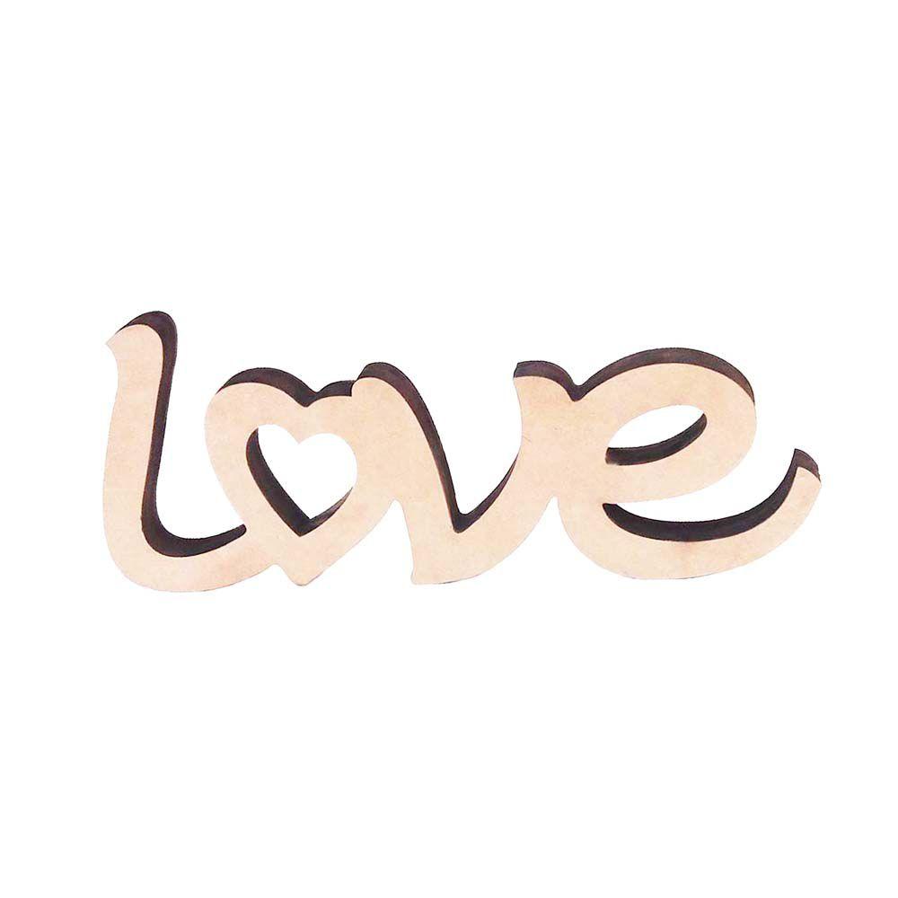 Kit 10 Love Recorte mdf aplique tag pingente selo convite