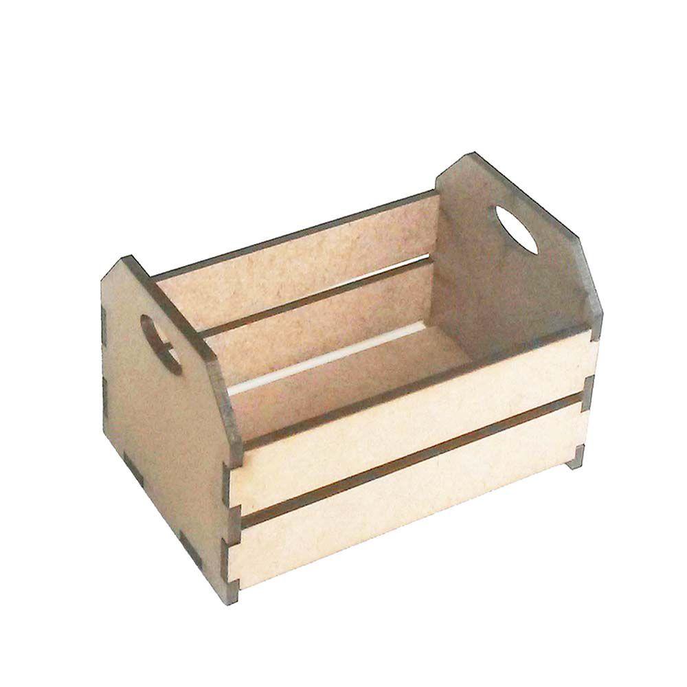 Kit 10 Mini caixote 7 cm caixotinho de feira mdf fazendinha