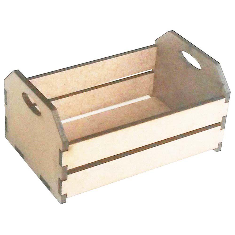 Kit 10 Mini caixote mdf 10 cm caixotinho de feira fazendinha