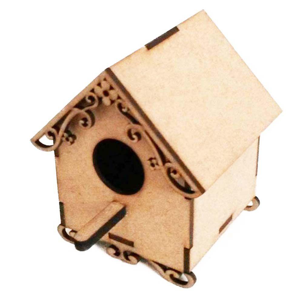 Kit 10 mini casinha de passarinho 8 x 11cm mdf arte  festa