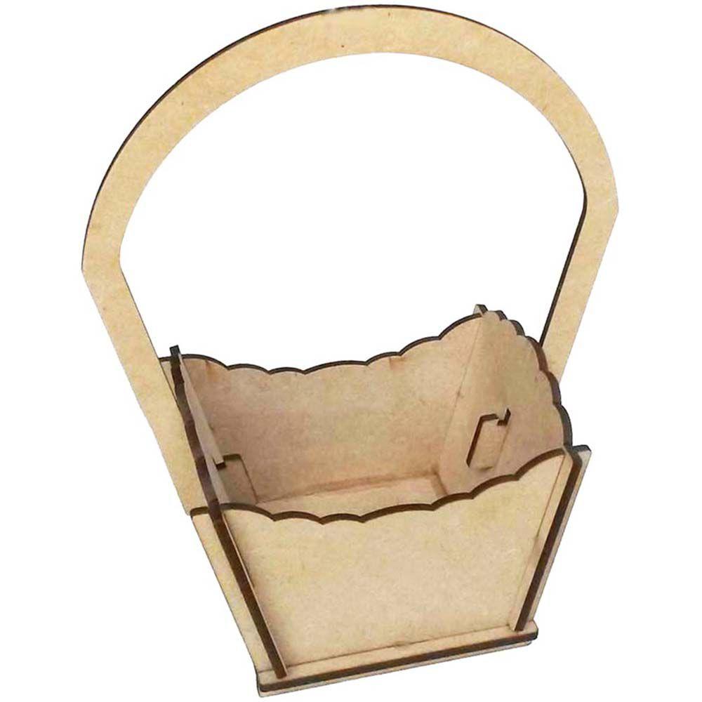 Kit 10 mini cestinha cesta de mdf páscoa flor doce chocolate