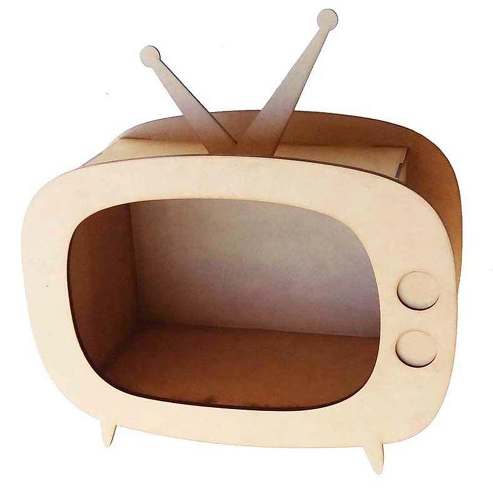 Kit 10 Mini nicho mdf Televisão TV retrô 15 cm lembrancinha