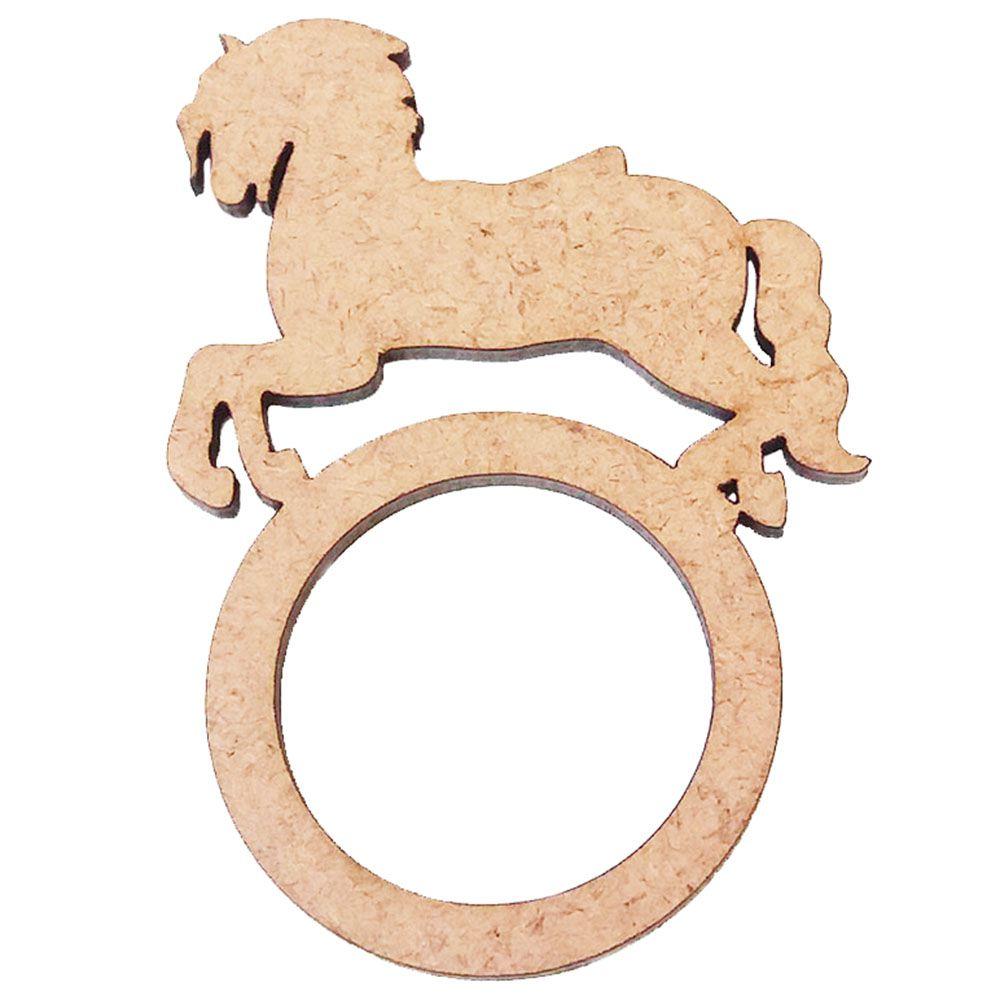 Kit 10 porta guardanapo mdf argola cavalo cavalinho festa