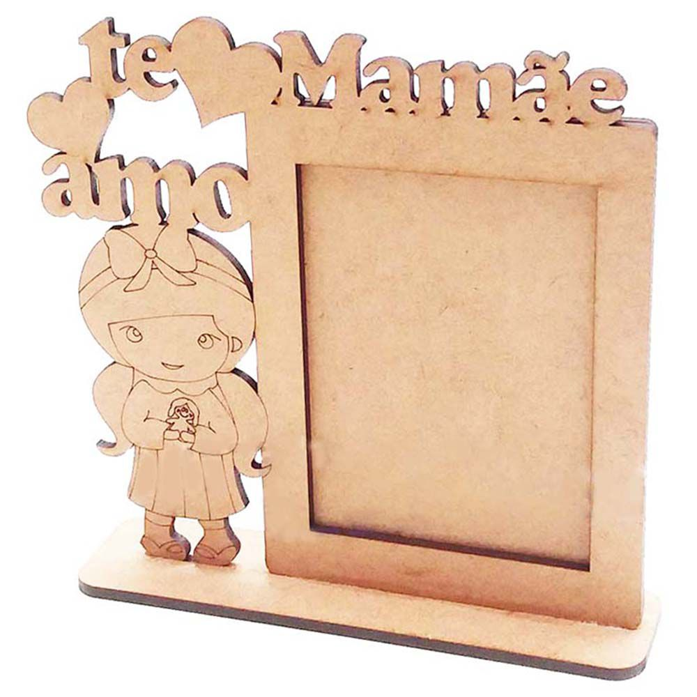 Kit 10 porta retrato 7x10 vt menina mamãe te amo dia das mães