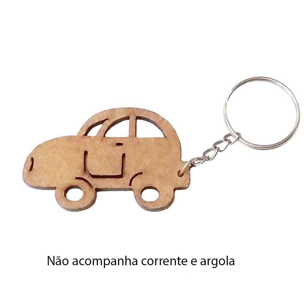 Kit 10 recorte Chaveiro carro fusca mdf sem corrente