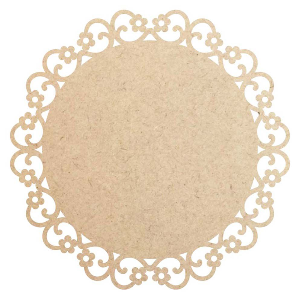 Kit 15 Disco 15 cm floral mdf mini mandala placa artesanato