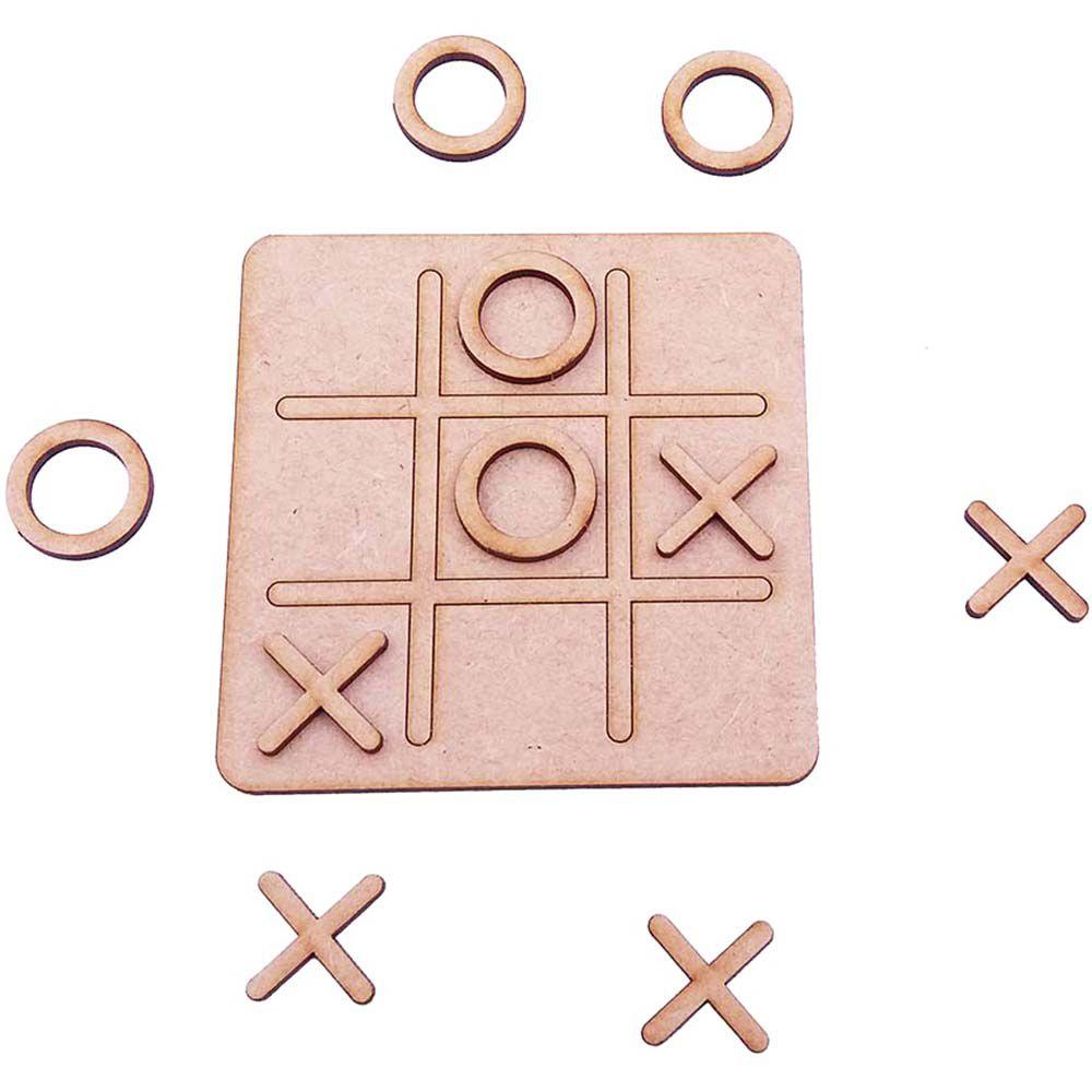 Kit 15 mini tabuleiro jogo da velha 10 cm mdf festa crianças