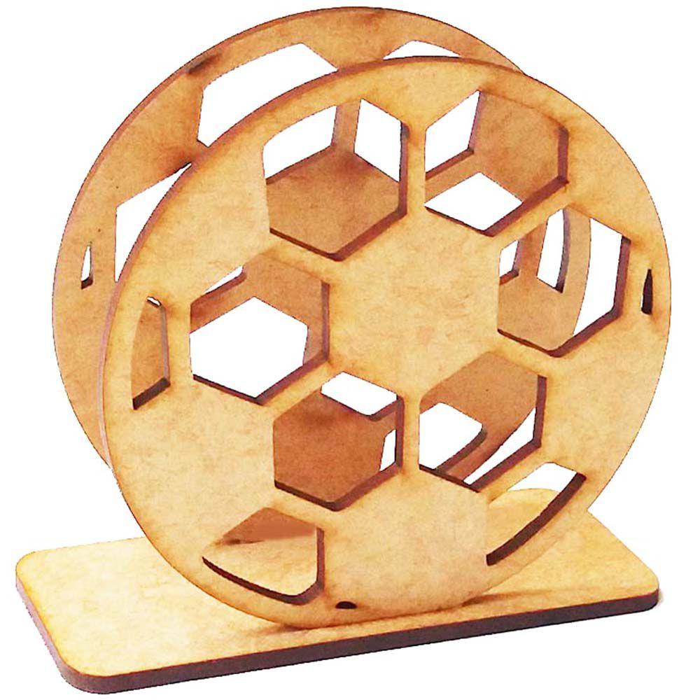 Kit 15 porta guardanapo mdf bola de futebol festa time
