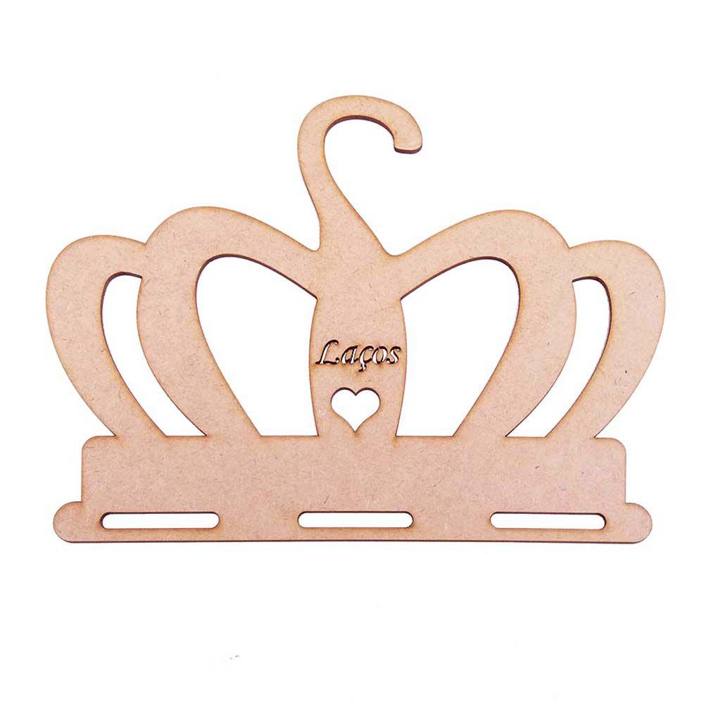 kit 12 Cabide mdf porta laço mod coroa laços coração bebê