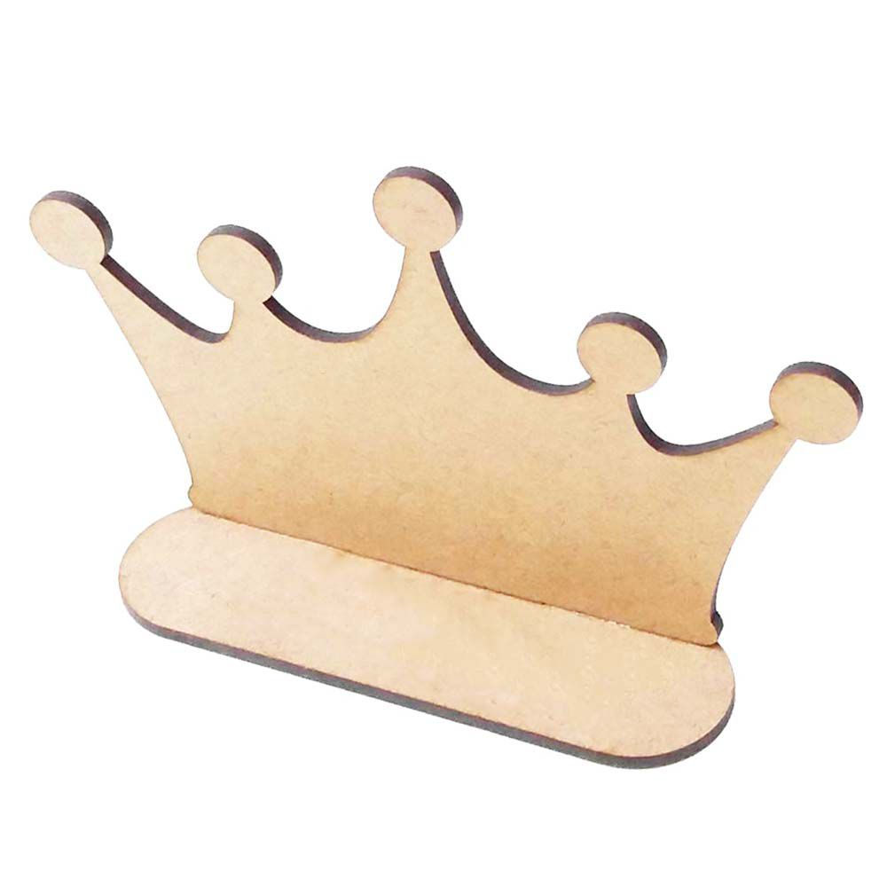 Kit 20 Coroa mdf 15cm m4 totem centro mesa príncipe princesa