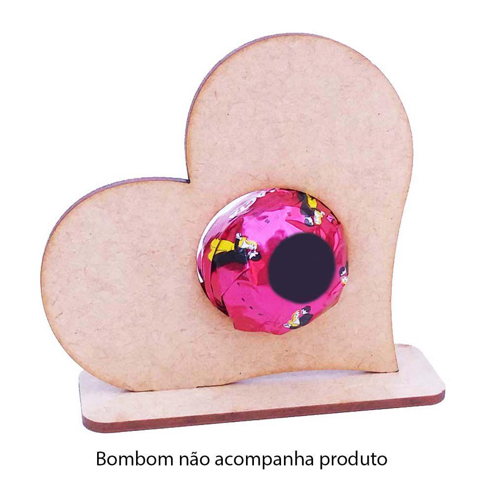 Kit 25 Coração mdf porta bombom 10cm namorados amor dia mães