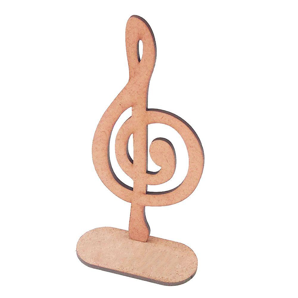 Kit 25 nota Clave Sol 15cm mdf centro mesa musical