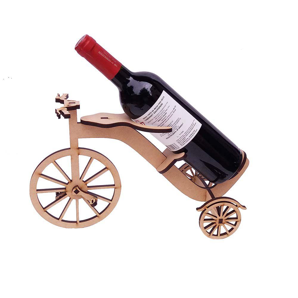 Kit 4 Bicicleta triciclo suporte mdf porta garrafa de vinho