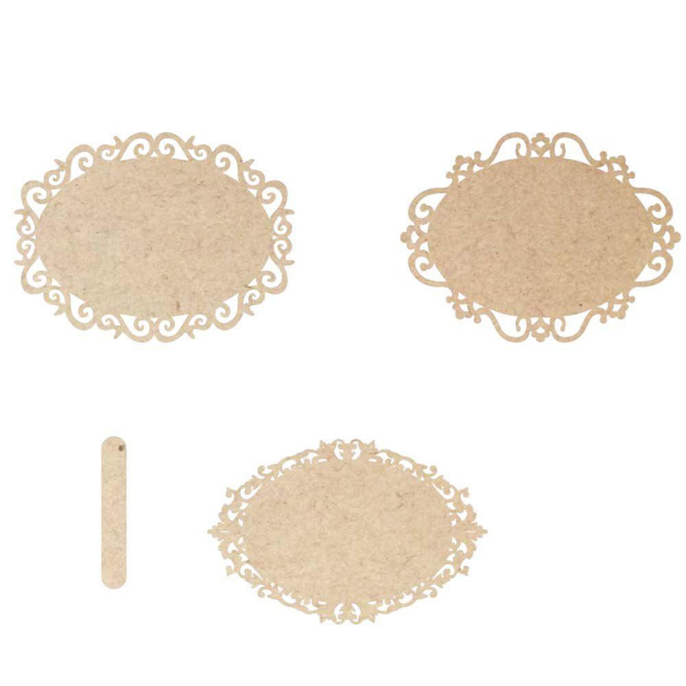 Kit 3 Placa mdf oval 33 cm cabo avulso maternidade casamento