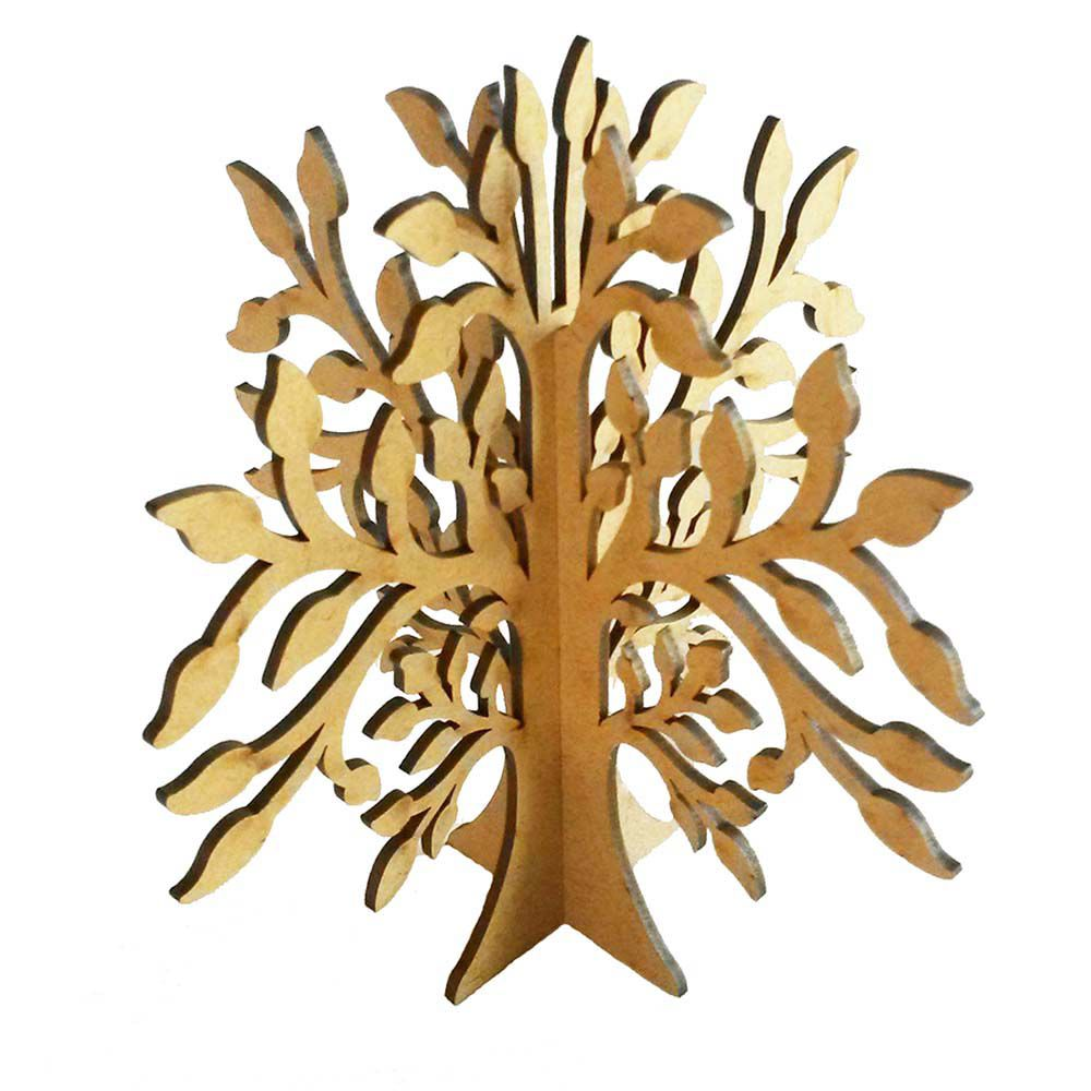 Kit 4 Árvore decorativa 3D 30 cm mdf 3mm Festa Jardim