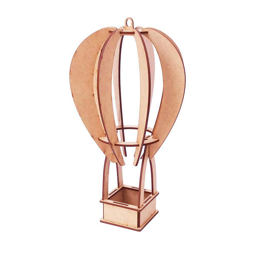 Kit 4 Balão 3d 31cm mesa ou pendurar mdf quebra cabeça