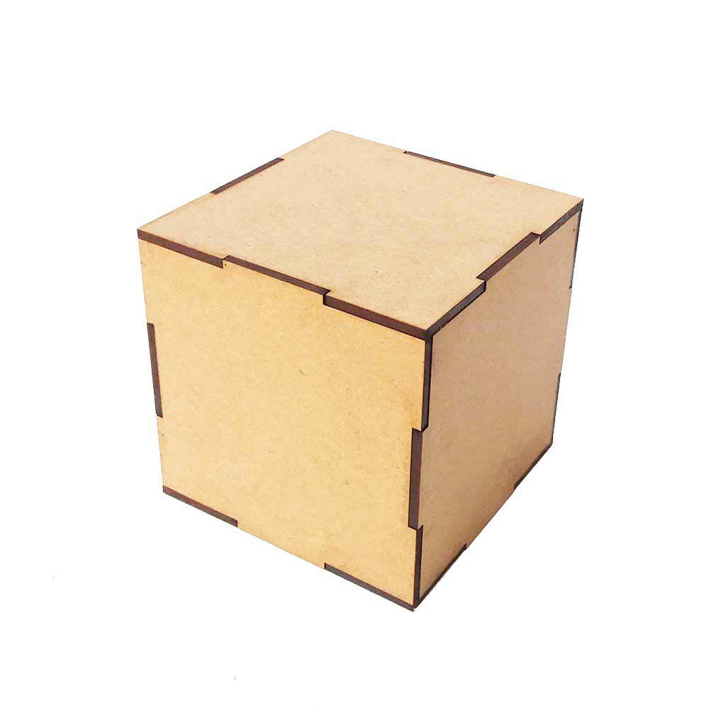 Kit 4 Cubo dado mdf 5 cm decoração artesanato quadro cenário