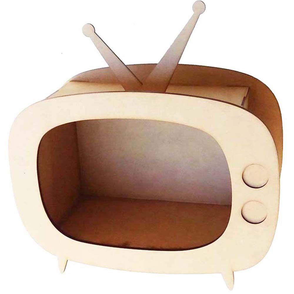 Kit 4 televisão retro nicho mdf TV 37cm decoração festa