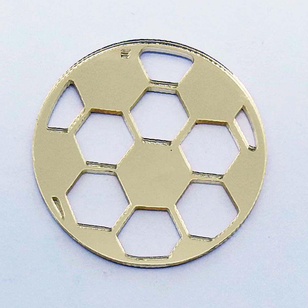 Kit 50 Aplique bola de futebol Acrilico espelhado AP232