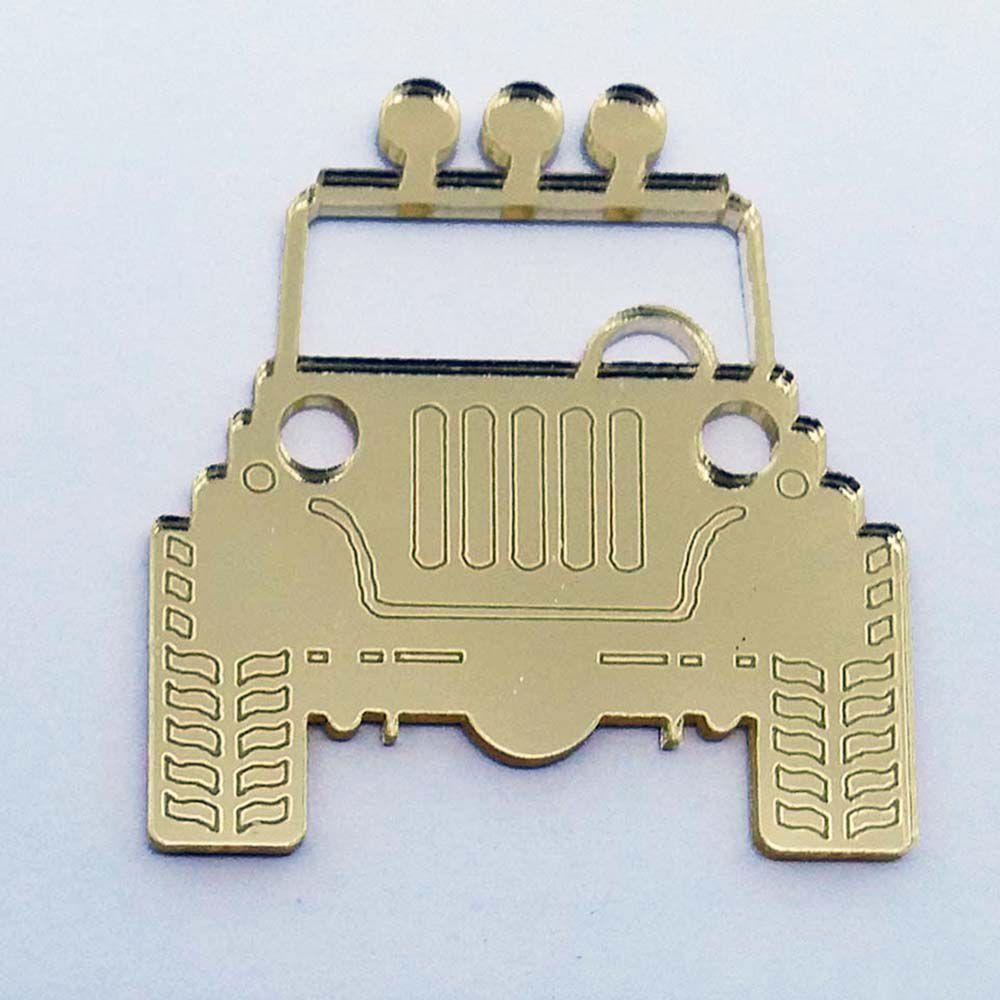 KIt 50 Aplique carro jeep safari Acrilico espelhado AP295