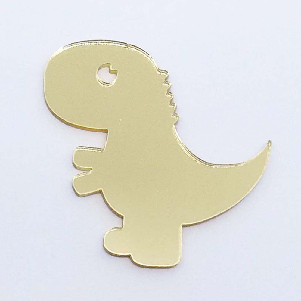 Kit 50 Aplique dino dinossauro Acrilico espelhado AP186