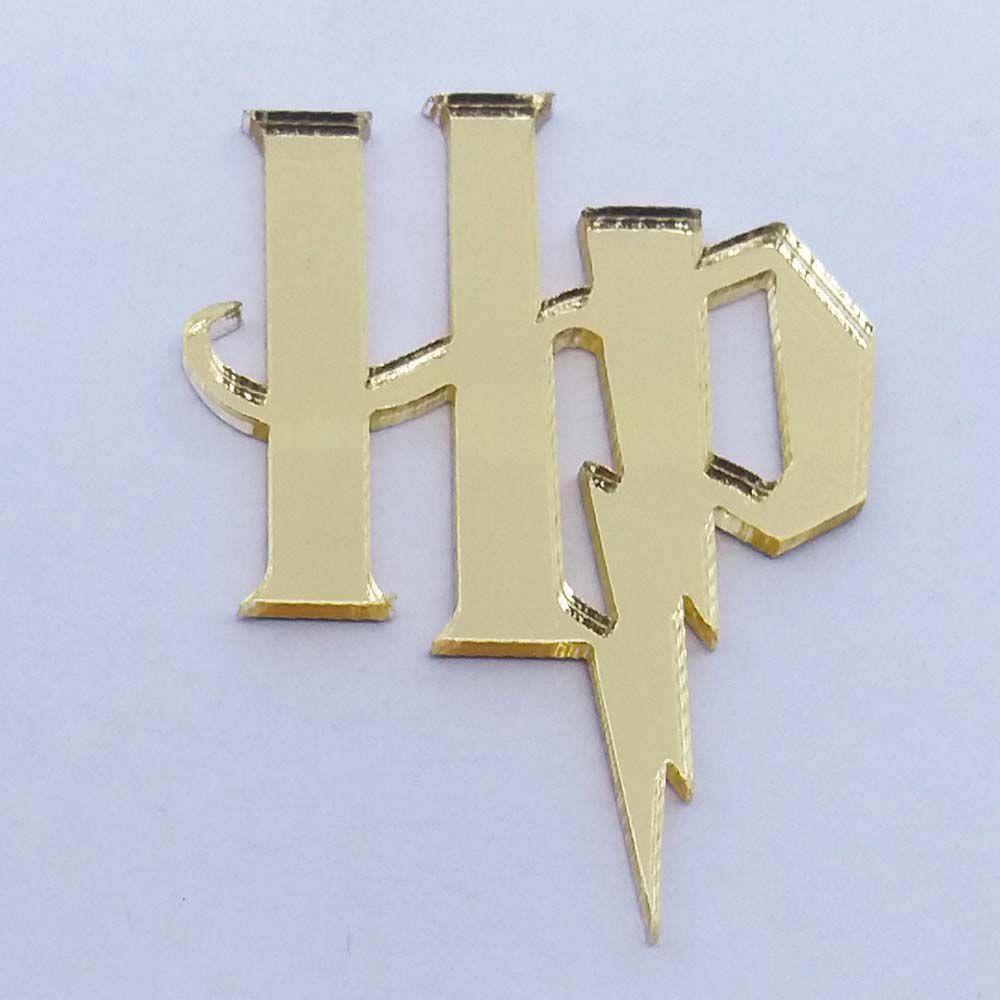 Kit 50 Aplique HP Harry Potter Acrílico espelhado AP359