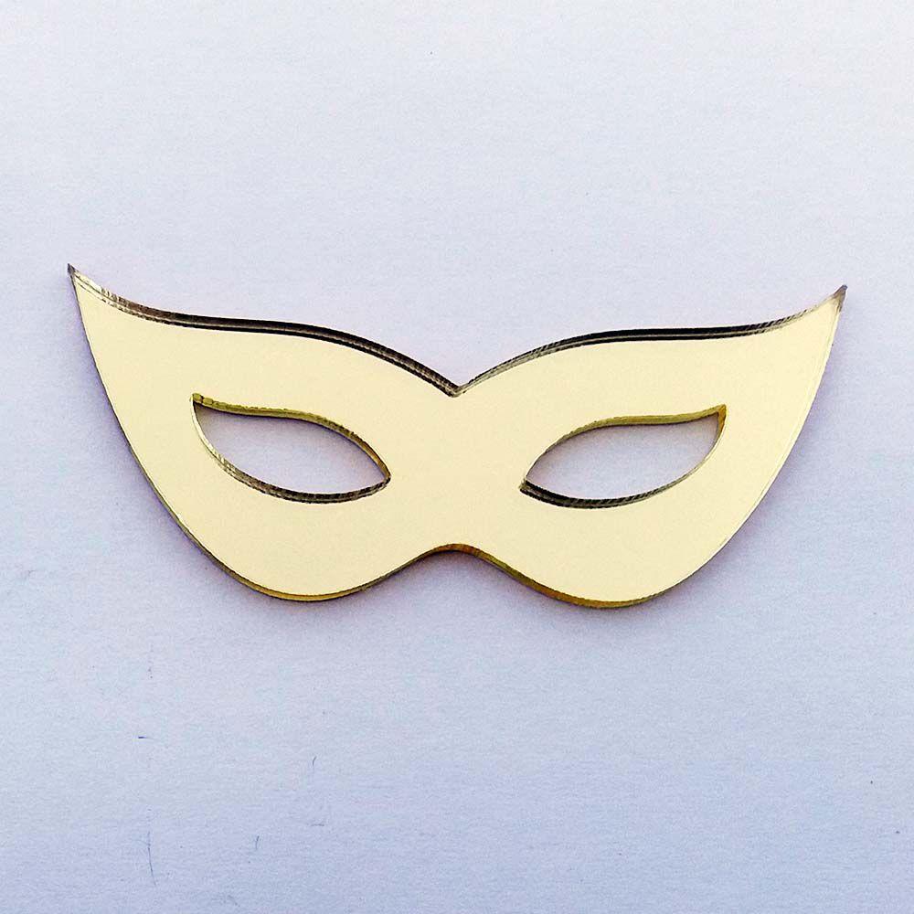 Kit 50 Aplique mascara de carnaval Acrílico espelhado AP403