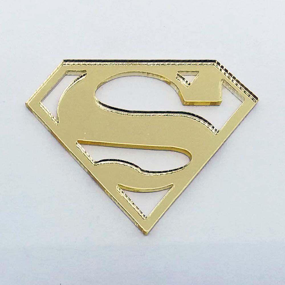 Kit 50 Aplique Superman super homem heróis Acrilico espelhado AP149