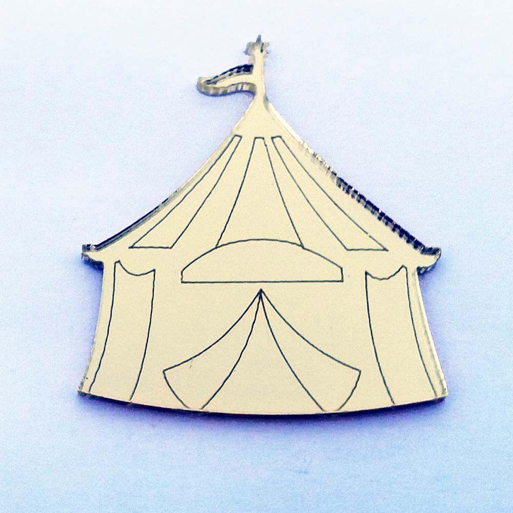 Kit 50 Aplique tenda circo barraca parque Acrílico espelhado AP214