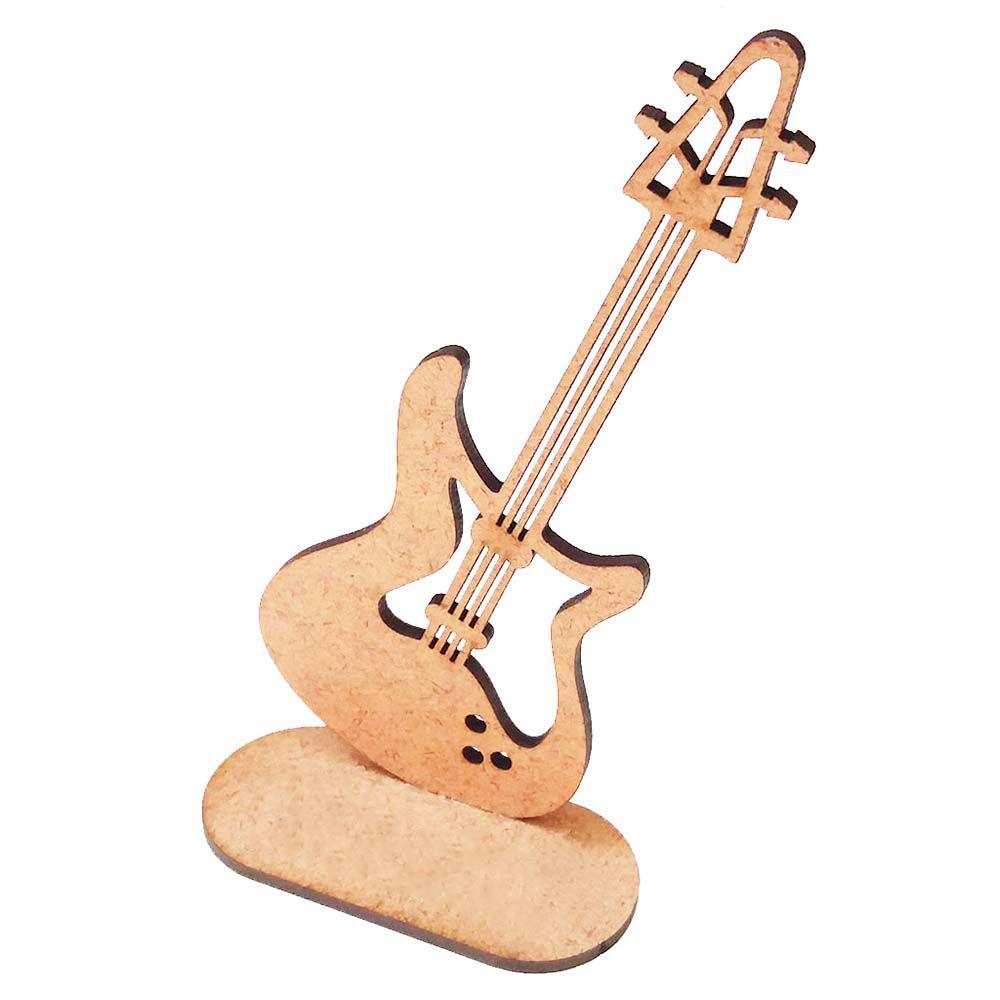 Kit 5 Baixo 15cm totem centro mesa instrumento musical