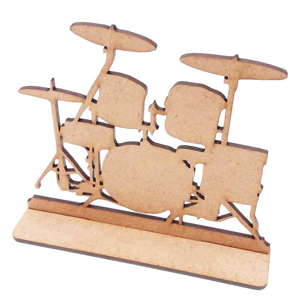 Kit 5 Bateria 15cm instrumento musical totem de mesa