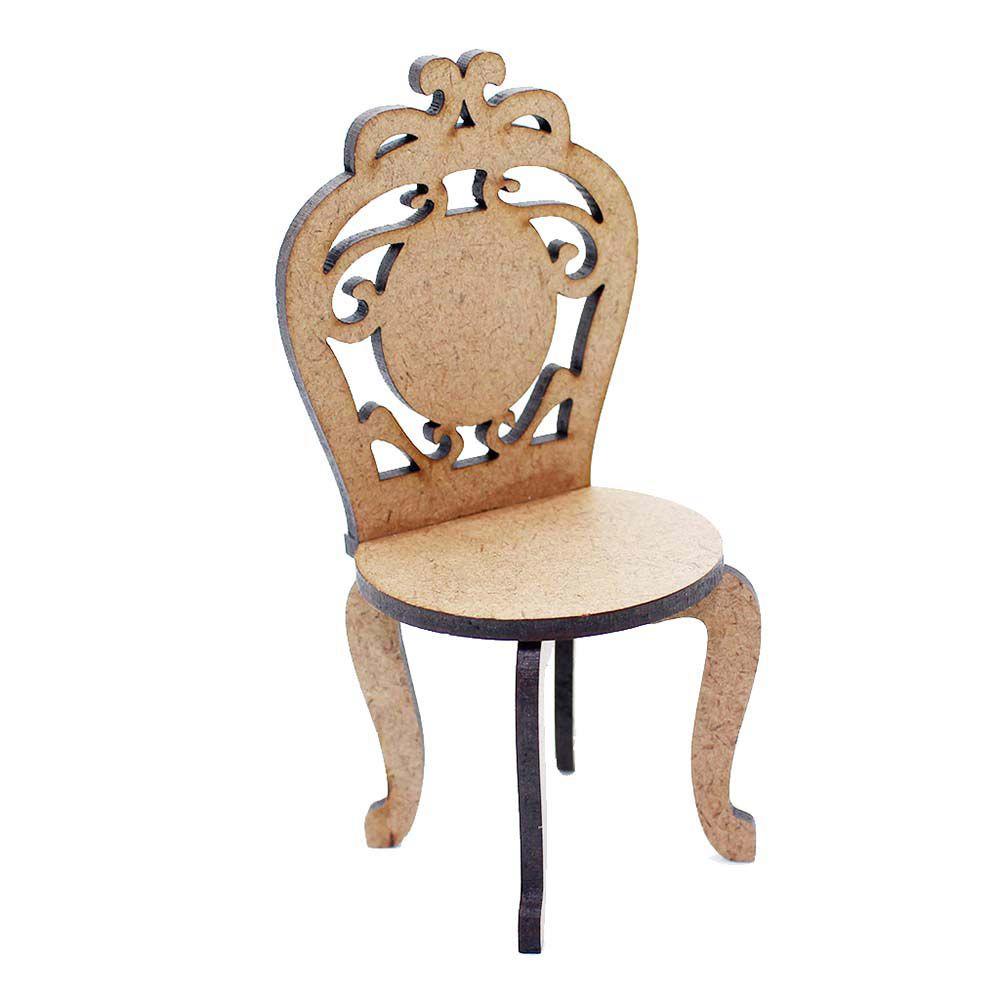 Kit 5 Cadeira cadeirinha miniatura 20 cm festa provençal