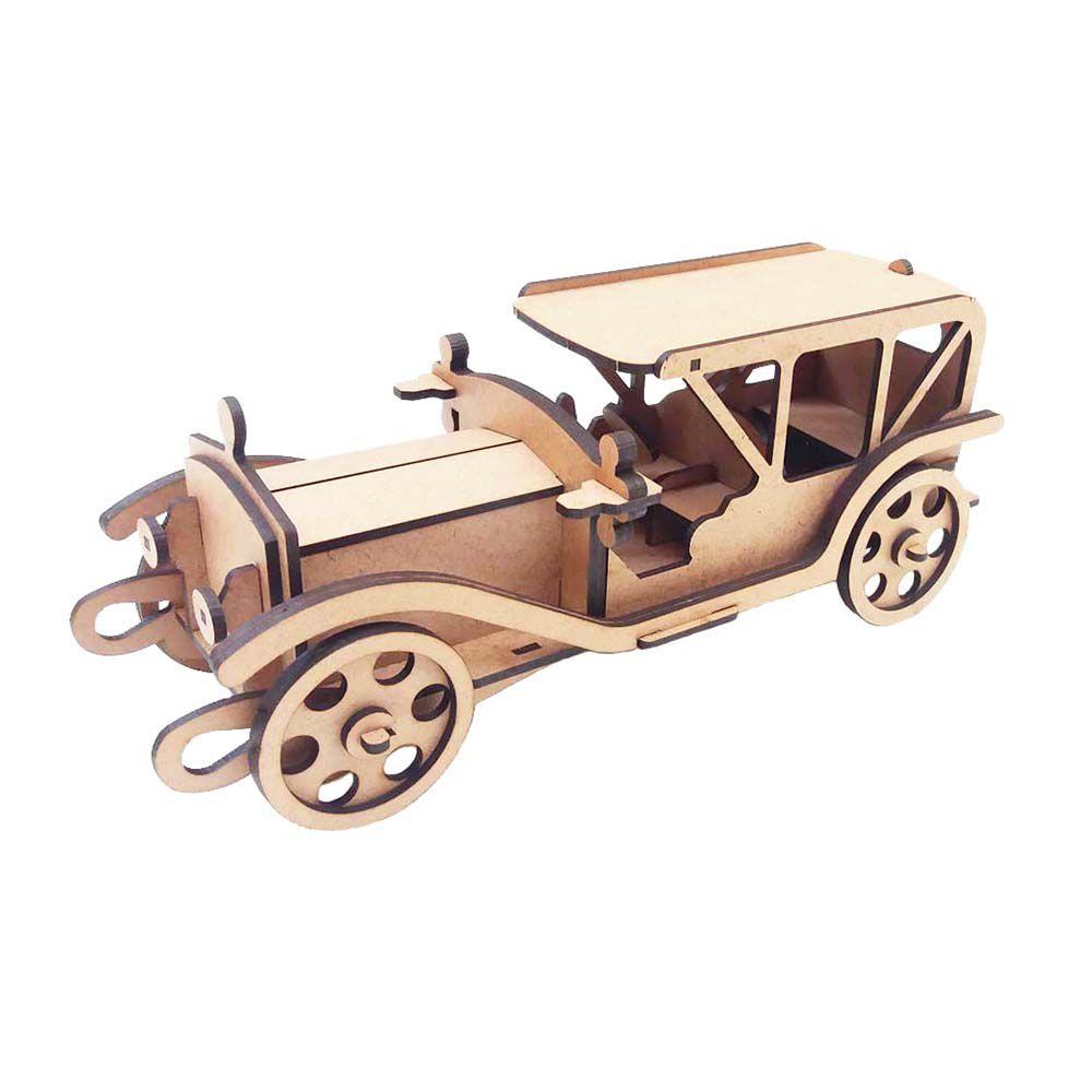 Kit 5 Carro Antigo Ford V8 coleção Quebra Cabeça 3D mdf