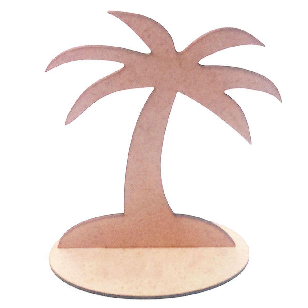 Kit 5 Coqueiro mdf 15 cm totem centro mesa festa havaiana