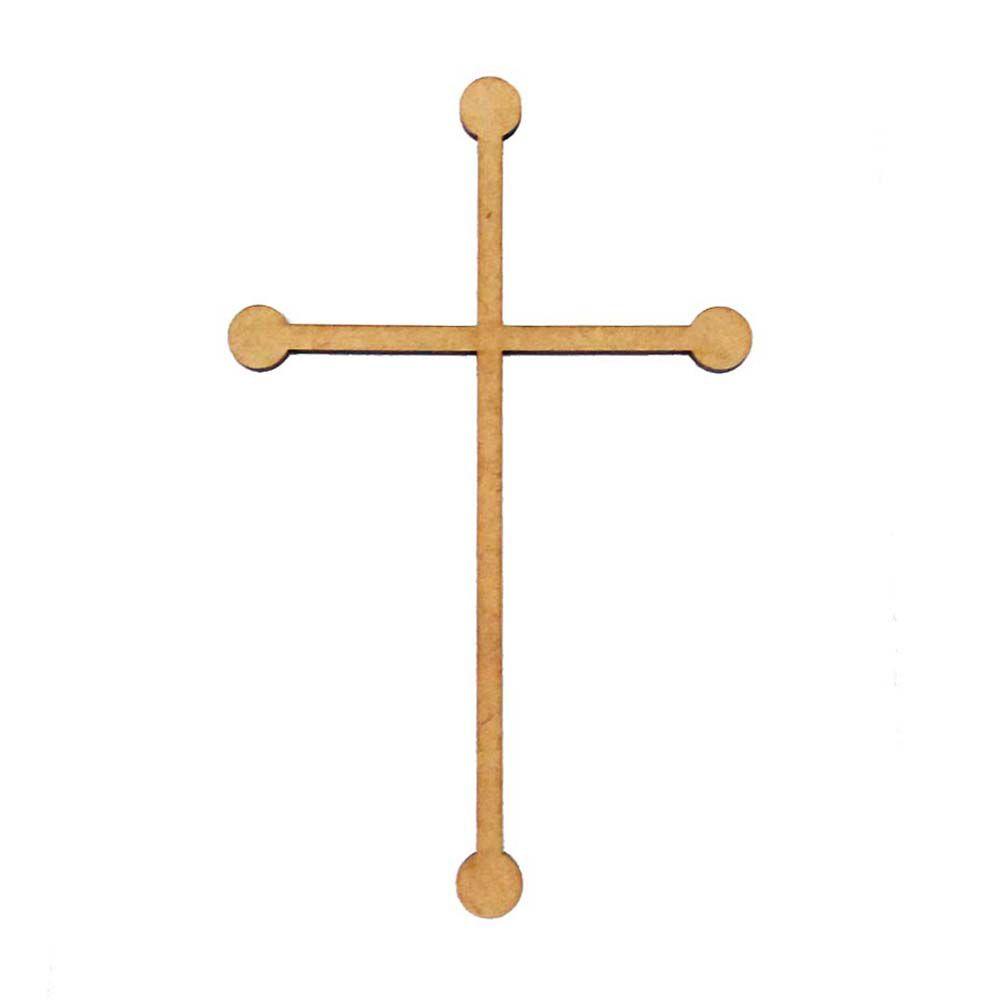 Kit 5 Crucifixo mdf 28 cm mod4 cruz religioso arte decoração