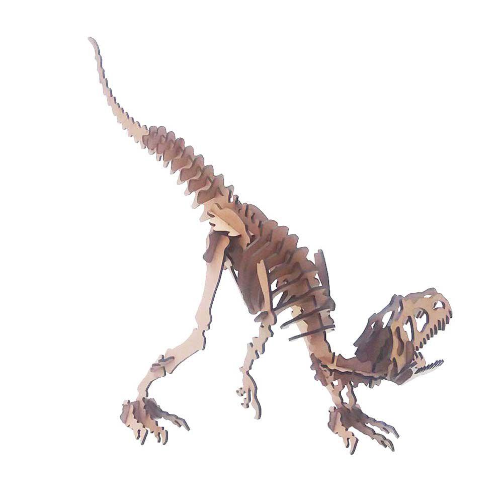 Kit 5 Dinossauro Alossauro Quebra Cabeça 3D coleção dino mdf