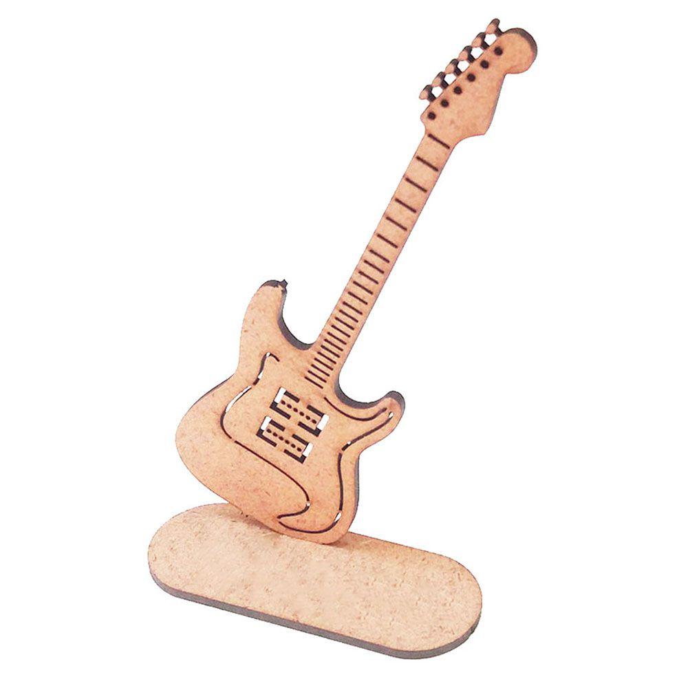 Kit 5 Guitarra 15 cm mdf centro mesa  instrumento musical