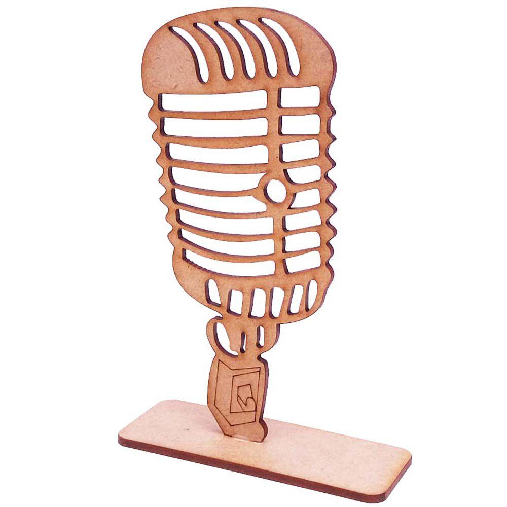 Kit 5 totem centro mesa microfone 15cm festa musica dançante