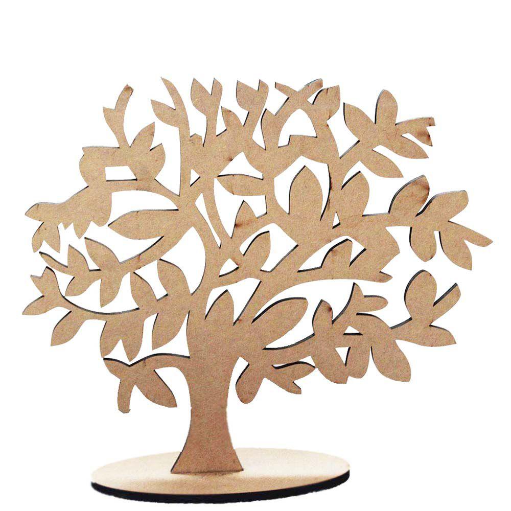 Kit 6 Árvore decorativa 30 cm em mdf modelo 1 com base