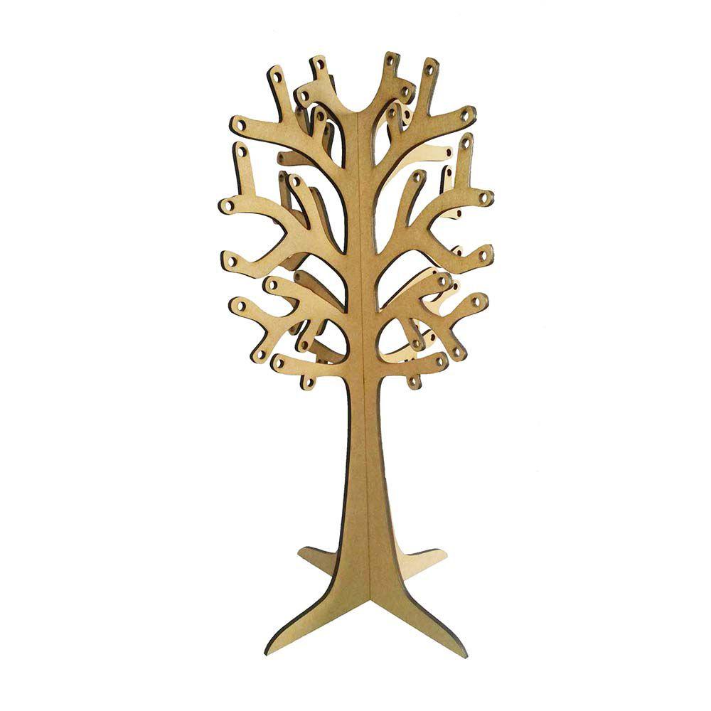 Kit 6 Árvore mdf decorativa 3D 35 cm porta brinco bijuteria