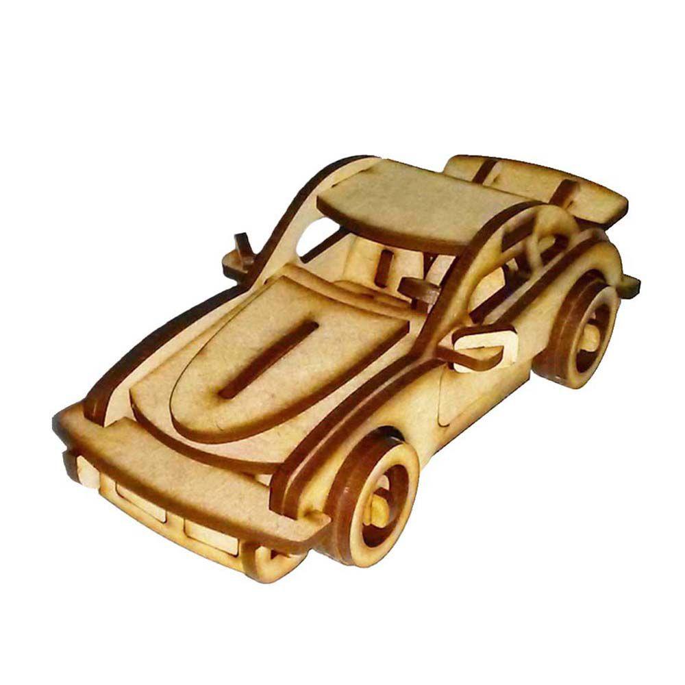 Kit 6 Carro Sport P911 Quebra Cabeça carrinho 3D mdf
