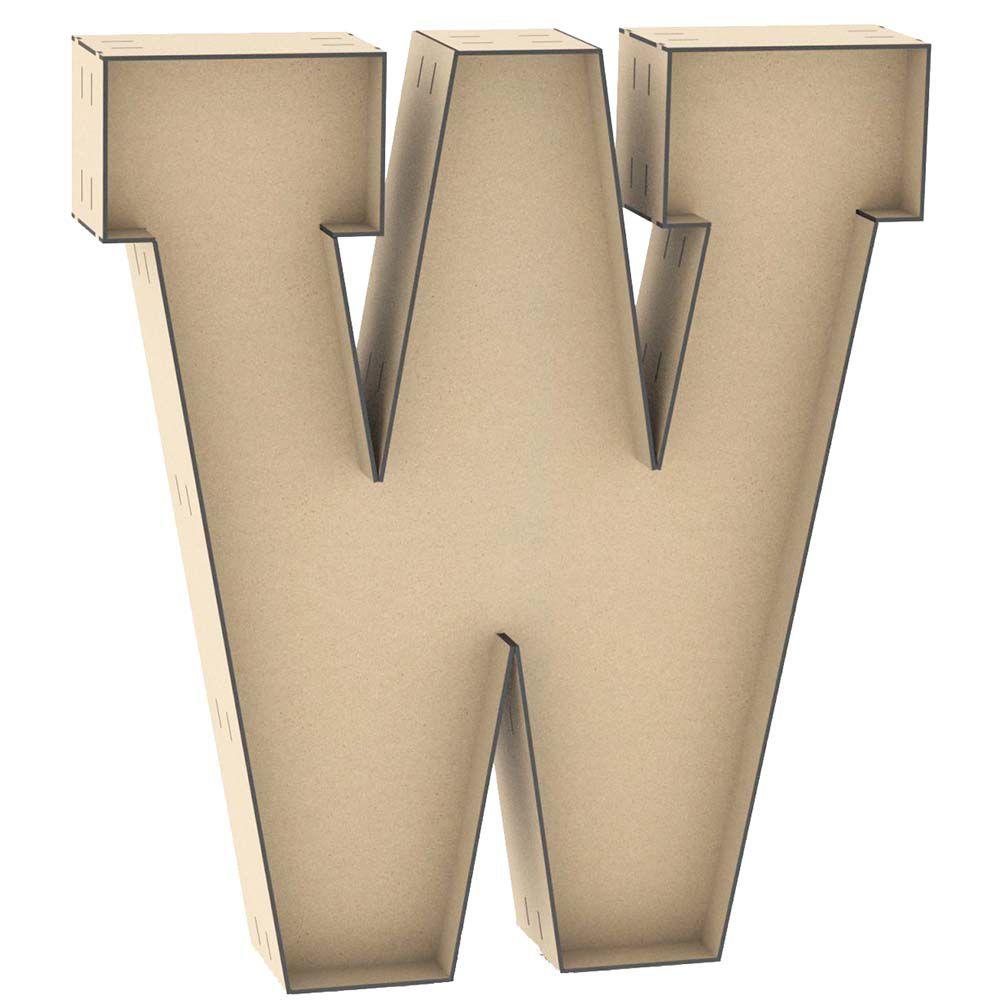 Letra caixa W 60cm altura letra mdf formar nome palavra