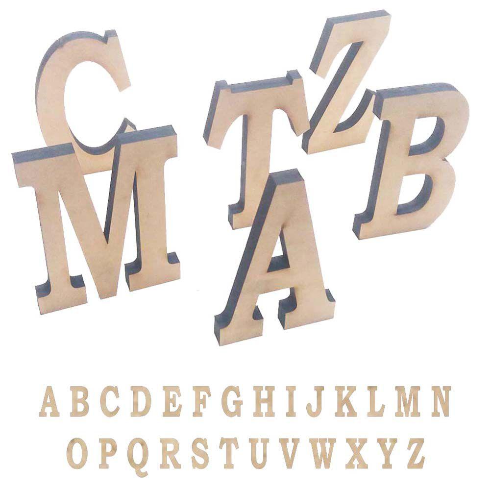 Letra mdfGrossa 15 cm x 15mm Fica em Pé Escolha a Letra