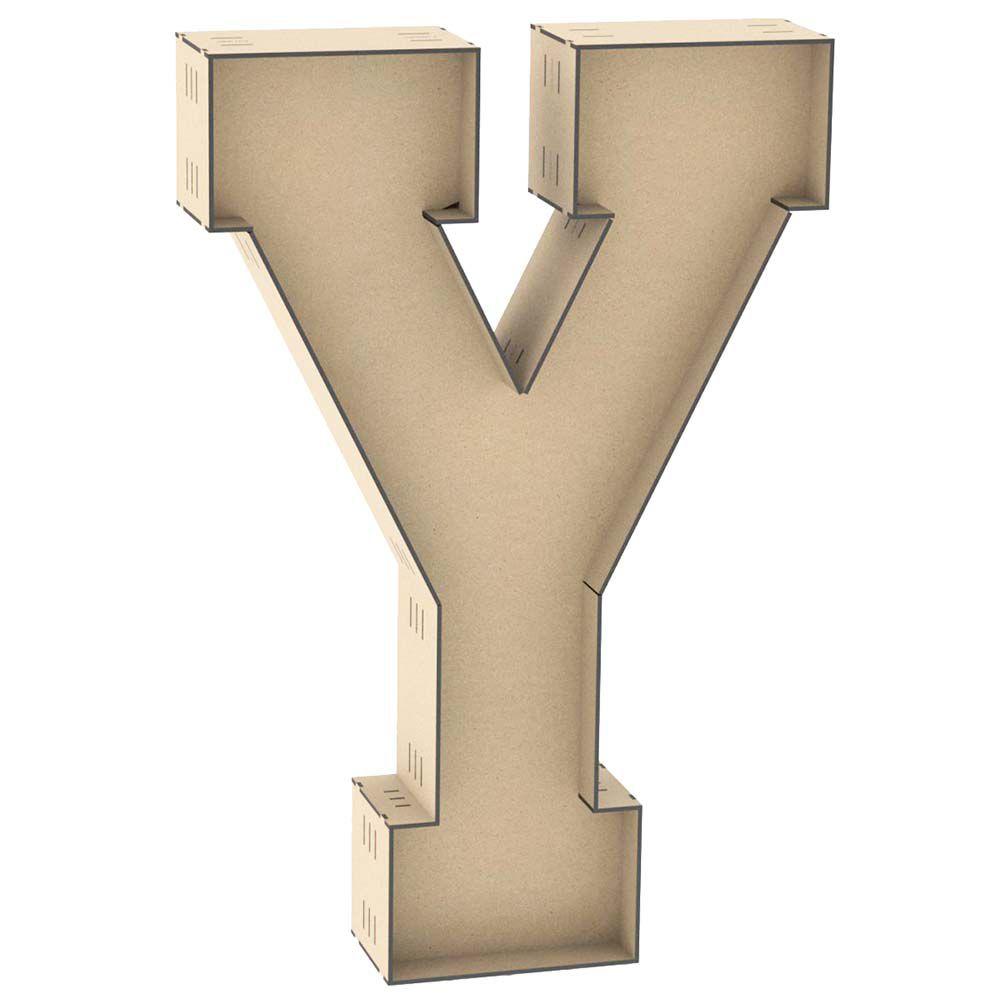Letra Y formato caixa 100 cm 1 metro altura centro duplo