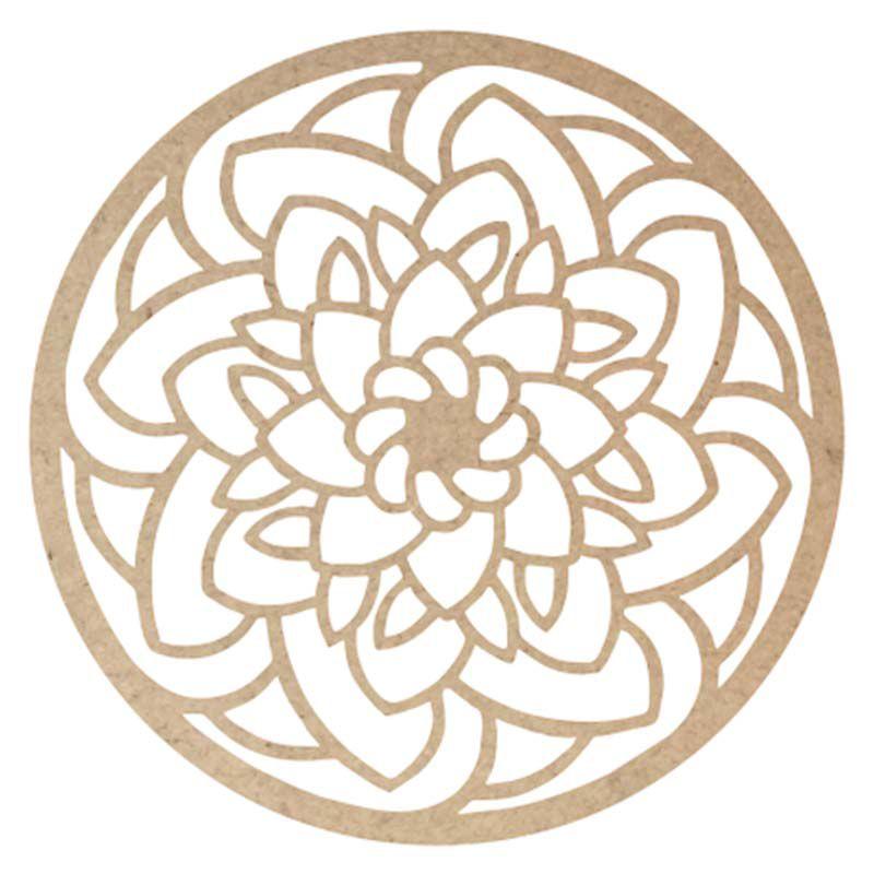 Mandala 60 cm mdf mod6 decoração escultura painel de parede