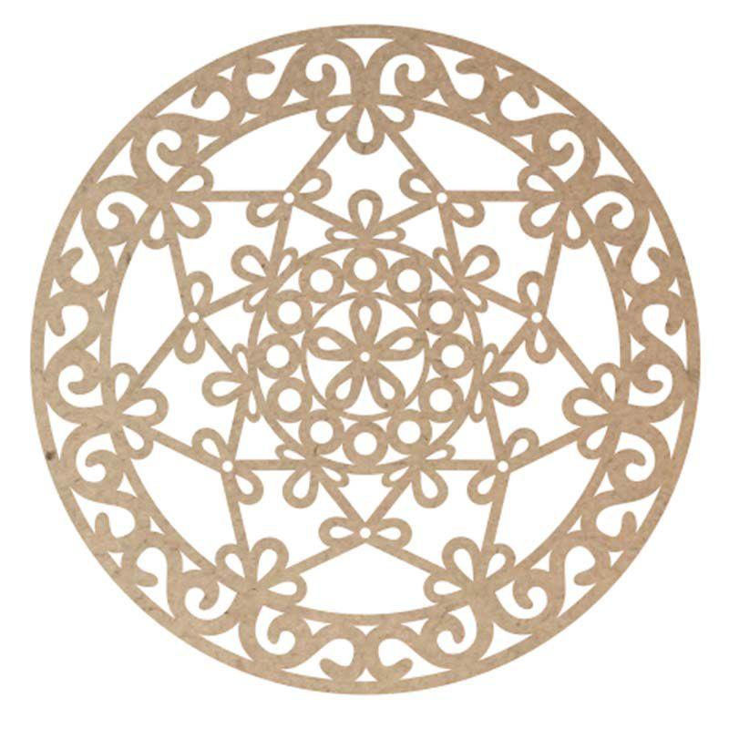Mandala decorativa mdf mod2 60cm decoração ambiente casa