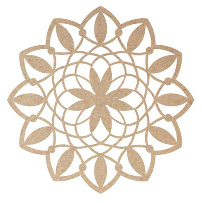 Mandala mdf 30 cm mod7 arte a Laser decoração painel porta