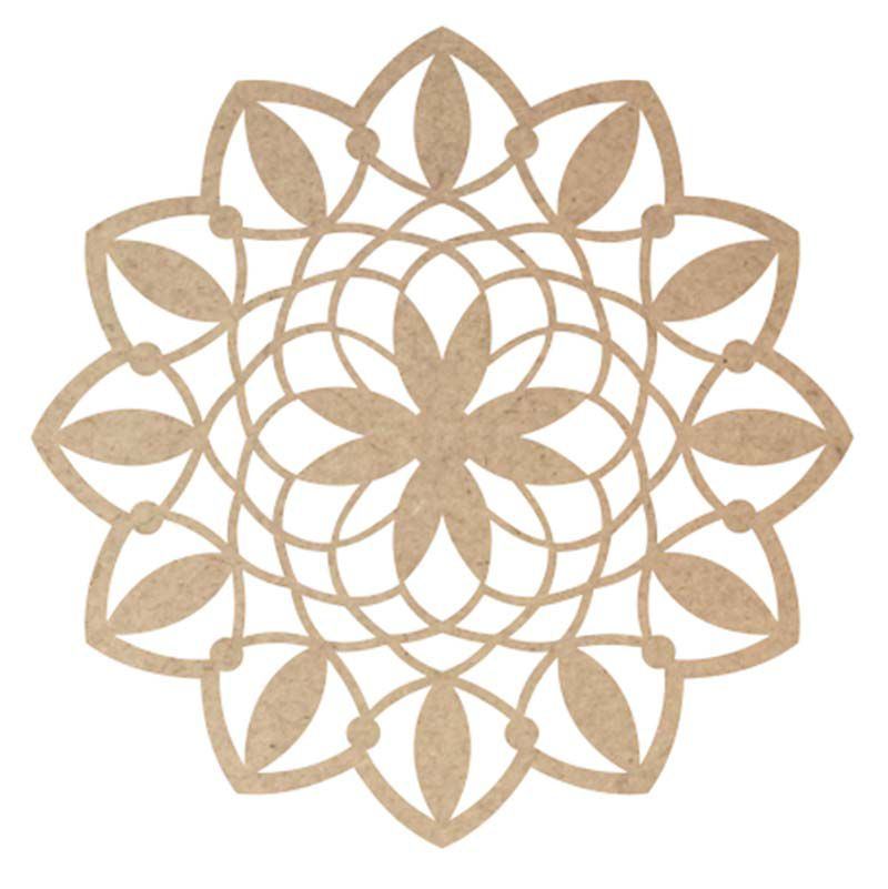 Mandala mdf 60 cm mod7 decoração parede artesanato miçanga