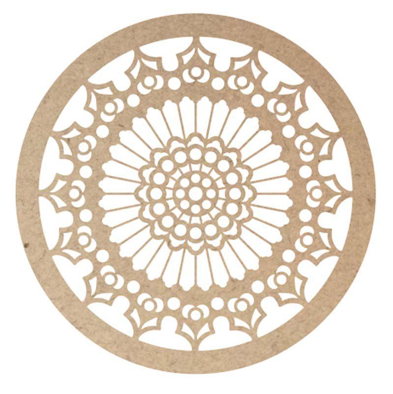 Mandala mdf mod1 30cm artesanato decoração escultura parede